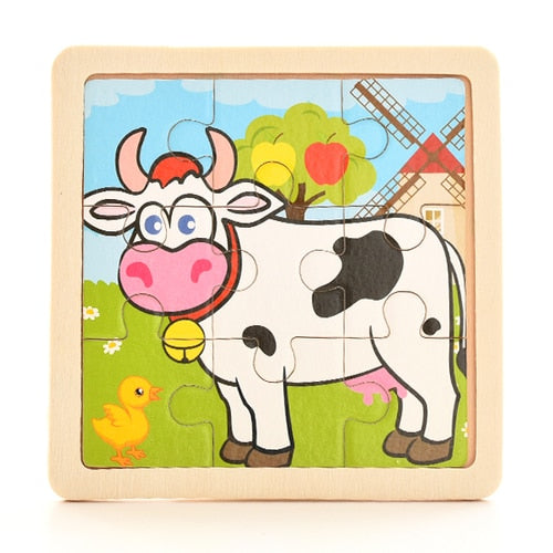 Top Selling 1PCS 3D Paper Jigsaw Educational Puzzles for Kids