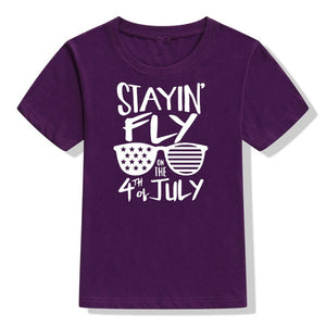 Fashionable Stayin Fly Short Sleeve T Shirt for Kids