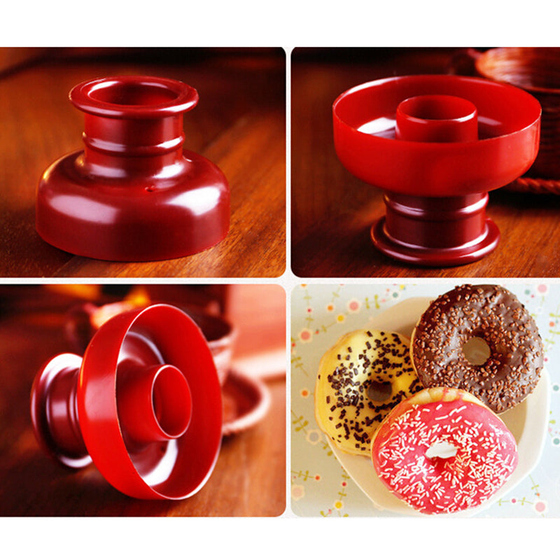 Portable Arabic 1Pc Plastic Waffle Donut Maker Cutter Flower Shape Dispenser
