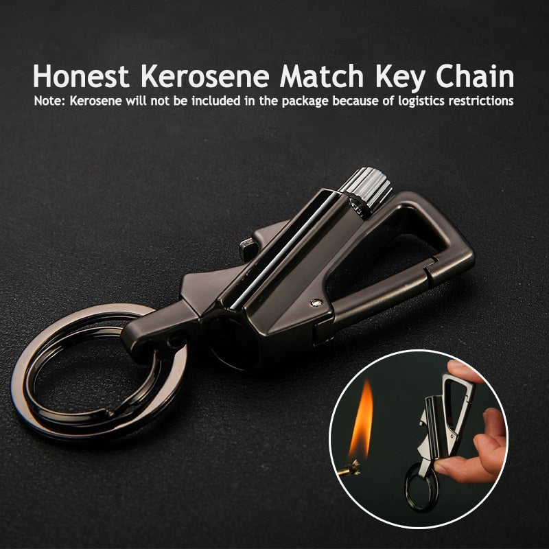 Multifunction Men Cigarette Lighter Keychain Tools for Father's Day Gift