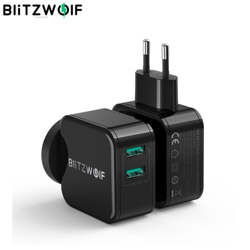 18W Dual USB Fast Travel Wall Charger For iPhone 11 8 X For Huawei