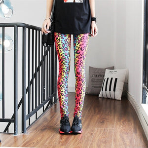 Colorful Digital Print Sexy Stretch Workout Push Up Leggings For Fitness