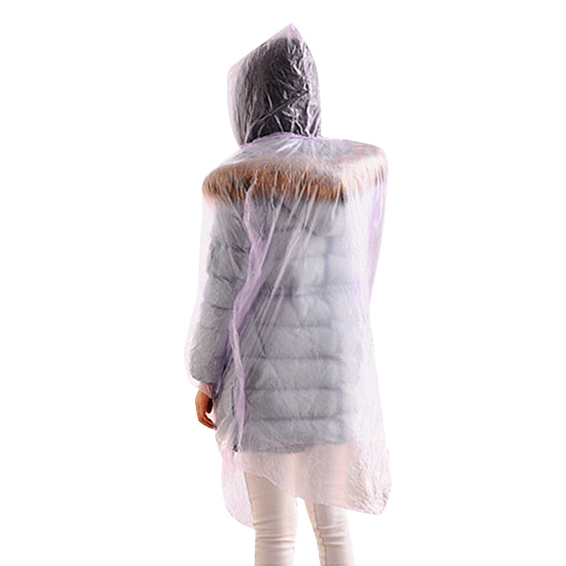 Random Color 1 PC Disposable Raincoat for Travel Camping
