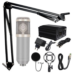 Professional BM 800 Karaoke Condenser Microphone Kits for Computer Studio Recording