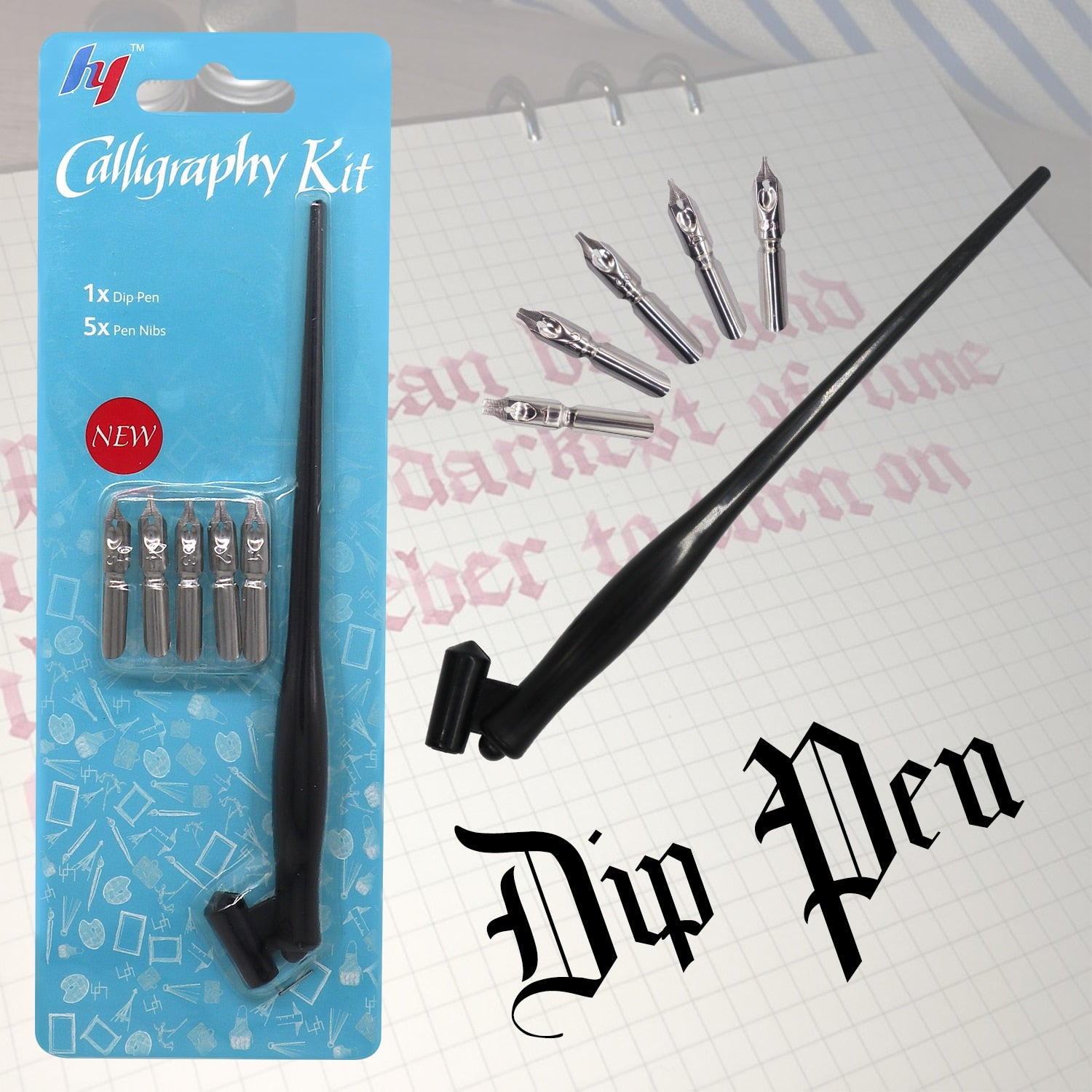 New Fountain Calligraphy Pen with 5Pcs Nib Pen Set for Drawing