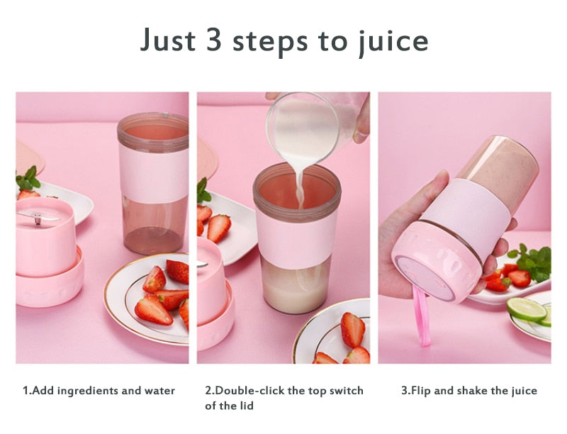 Mini USB Rechargeable Portable Electric Smoothie Blender Juicer