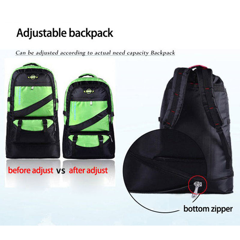 60L Waterproof Nylon Backpack for Travel Outdoor Mountaineering Hiking & Camping