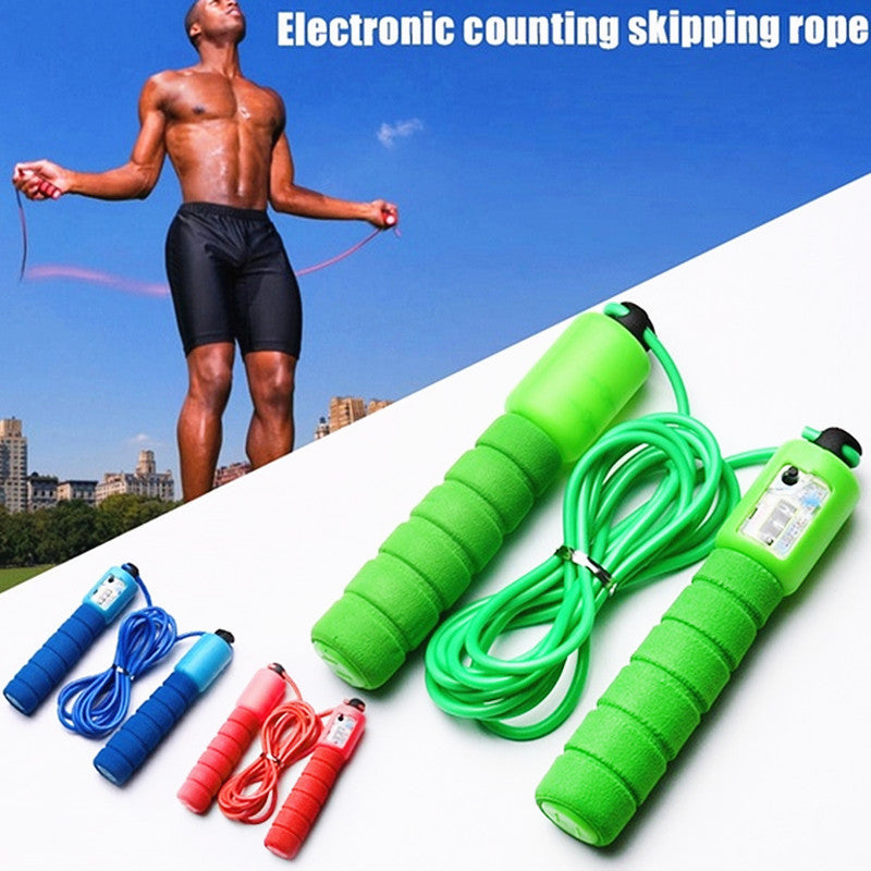 Hot Selling Adjustable Fast Speed Counting Jump Skip Rope for Fitness