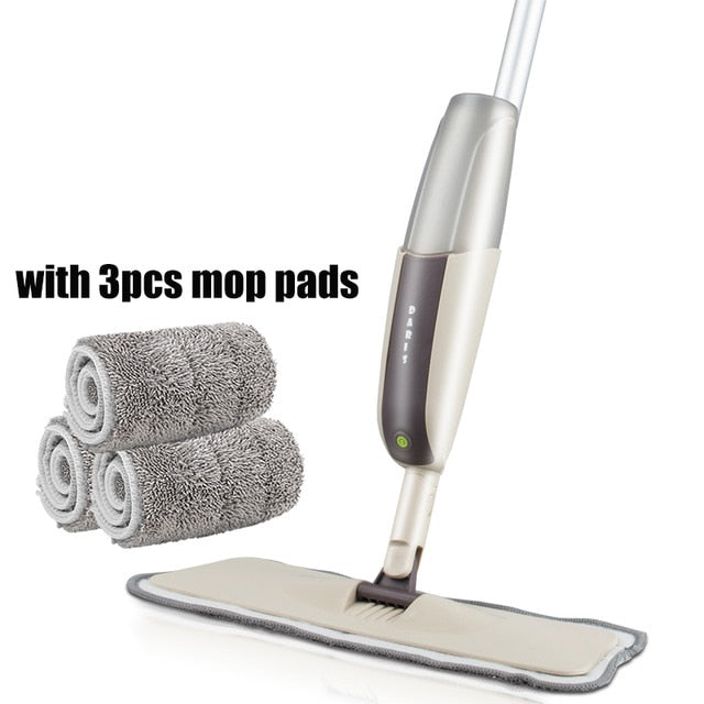 Most Selling Reusable Microfiber Pads Wooden Magic Mop for Floor Cleaning