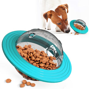 Pet Supplies Universal Flying Discs Toys Leaking Food Feeder Ball