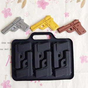 3D Pistol Shape DIY Silicone Ice Cube Mold Maker