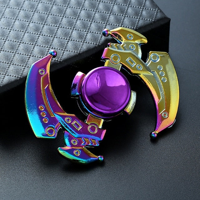 Electroplate Hybrid New Rainbow Metal Hand Spinner Focus Toys for Kids