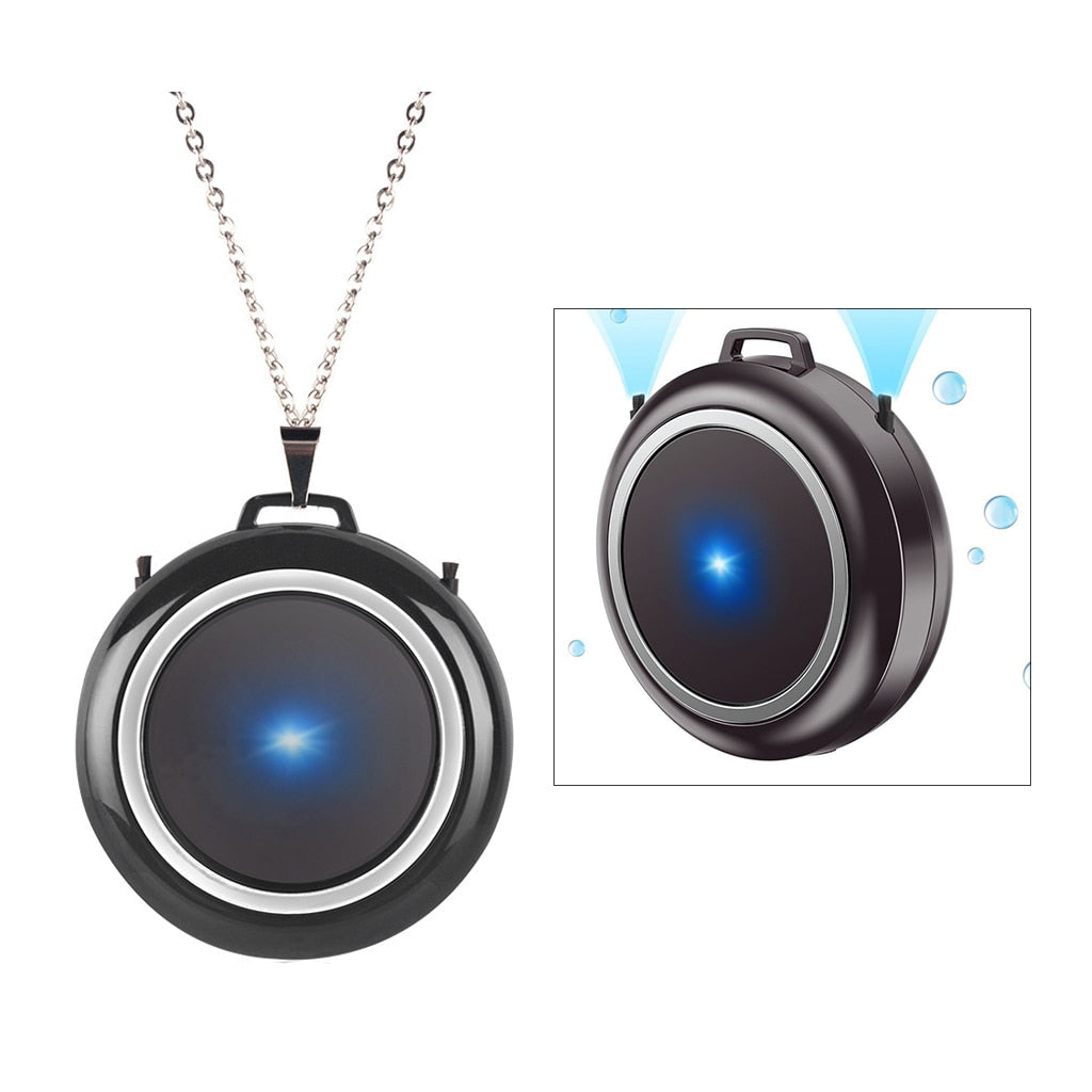 Personal Mini USB Portable Wearable Air Purifier Necklace for Adults & Kids