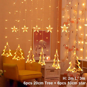 LED Bell String Light Hanging Garland for New Year Decor