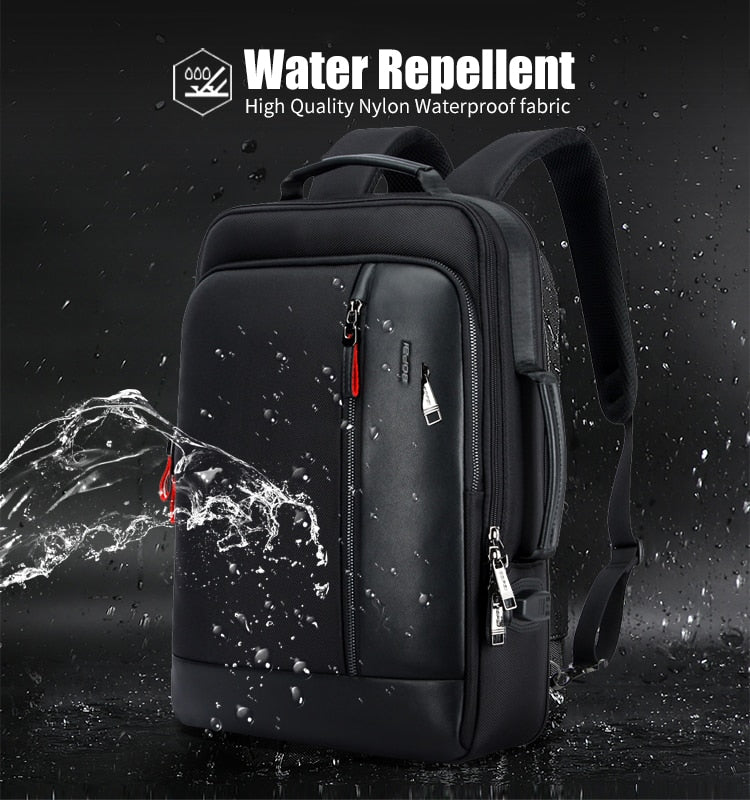 Anti theft Enlarge USB External Charge 15.6 Inch Waterproof Laptop Backpack for Men