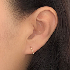 Everyday Wear Handmade Staple Stud Minimalist Fashion Earrings for Women