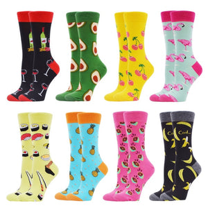 Funny Comfortable Colorful Women's Cotton Socks