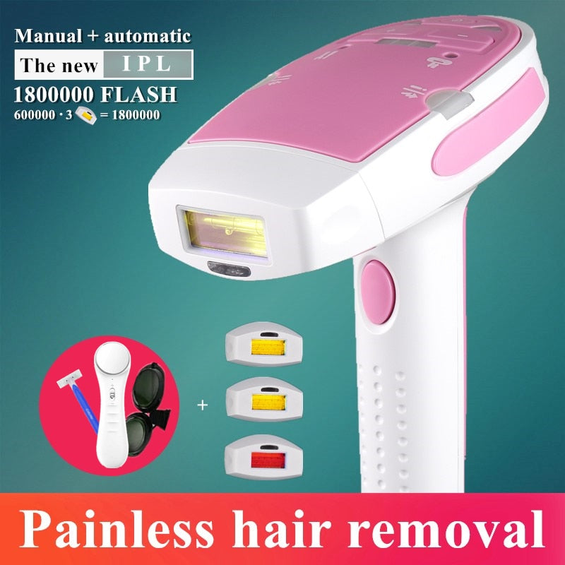New 3 in 1 Electric 1800000 Flashes IPL Laser Hair Removal Epilator for Women