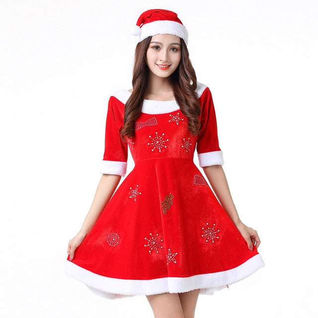 New Fashion Cosplay Santa Claus Women Costume