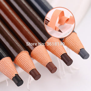 Natural Waterproof Eyebrow Peel-off Pencil With Black Grey Brown Light Brown & Natural Brown Color