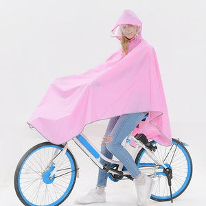 Windproof Hooded Safe Reflective Edge Bicycle Raincoat