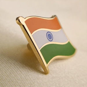 CLASSIC Enamel India Flag Lapel Pins