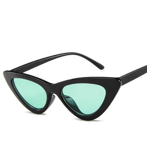 Designer Colorful Sexy Retro Small Cat Eye Sunglasses for Women