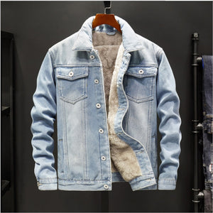 Casual Warm Outwear Denim Jackets for Men
