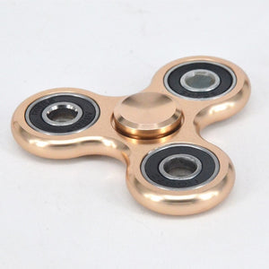 High Quality Aluminium Alloy Solid Color Metal Fidget Hand Tri Spiner Ring for Adults