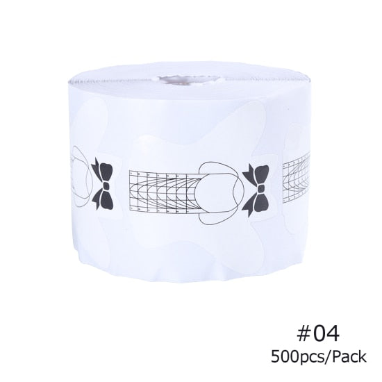 500/300pcs/Set Acrylic French Nail Extension Stencil Sticker