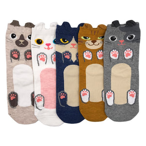 Cute Animal Soft Novelty 5 pairs/lot Fashion Cotton Women's Socks