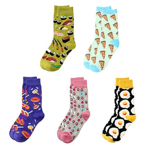 Cute Warm Winter 5 Pairs Men/Women Cotton Happy Funny Socks