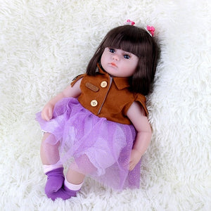 42CM Realistic Baby Reborn Dolls Vinyl Toys For Girls