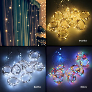 USB String 3Mts LED Curtain Garland on the Window Lights Remote Control New Year Decorations for Home Room