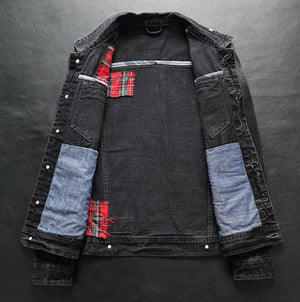 New European and American Style Slim Casual Denim Jacket for Men