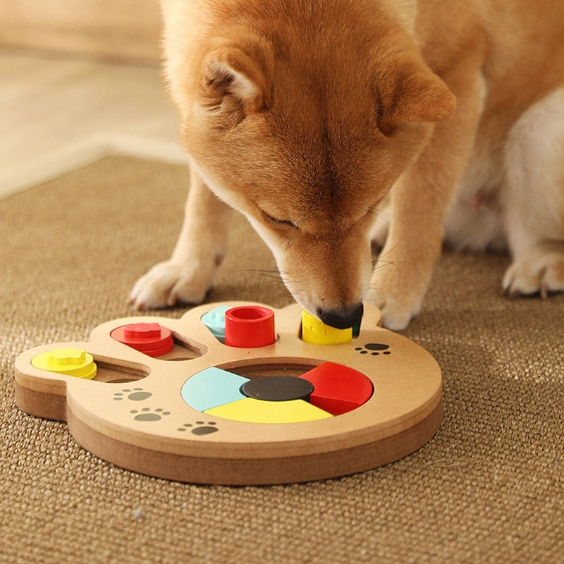 Slow Dispensing Interactive Dog Puzzle Feeder Toys to Increase IQ