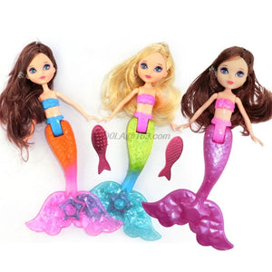 Cute Waterproof Mermaid Toys With Comb for Kids
