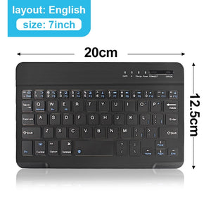 Mini Rechargeable Wireless Bluetooth Keyboard And Mouse For ipad Phone Tablet Laptop