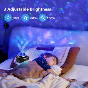Colorful Starry Projector Sky Galaxy Bluetooth USB Voice Control Music Player LED Night Light