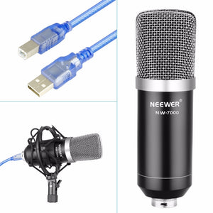 USB Recording Microphone Arm Stand Cardioid Studio Recording Vocals Voice