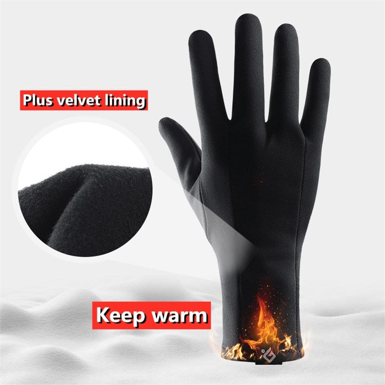 Ultralight Sports Touchscreen Windproof Thermal Fleece Men Women Winter Running Gloves