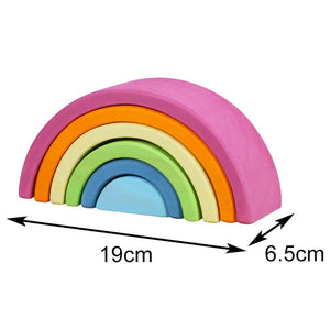 Creative Large Rainbow Stacker Wooden Toys For Kids
