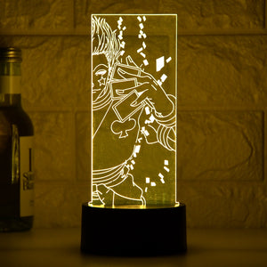 3D Vision LED Novelty Night Lamp for Bedroom Decor