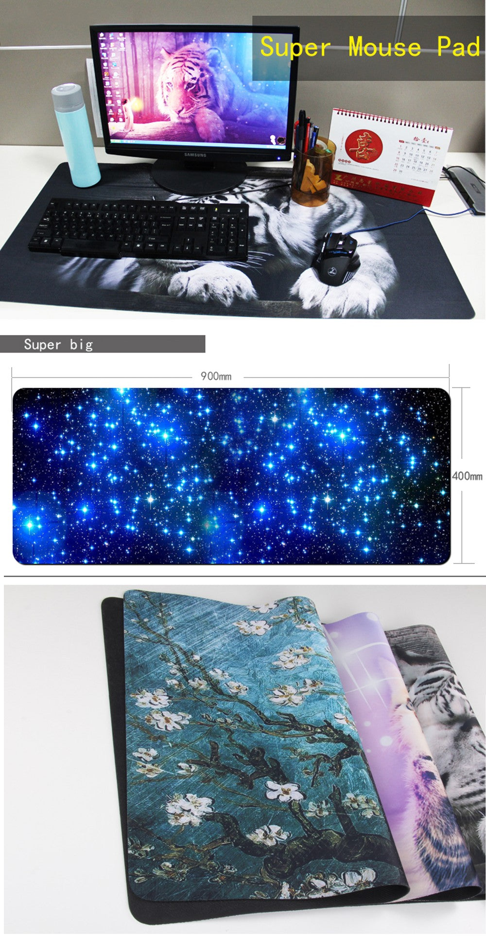 High Quality Custom Gaming Mouse Pad with DIY Picture with Edge Locking