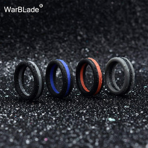 High Quality 5pcs/lot Three Layered Silicone Rings for Men Women