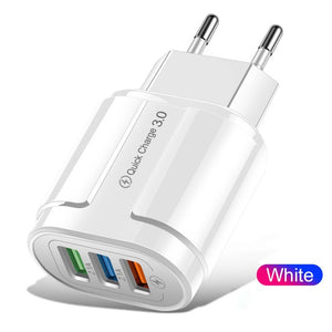 3.0 Universal Wall Mobile Phone Quick Charger Adapter