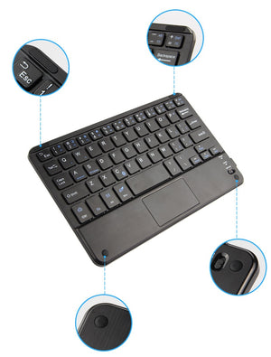 2.4G Wireless Touchscreen Gaming  Bluetooth Keyboard With Touch Pad For Android IOS Phone Tablet