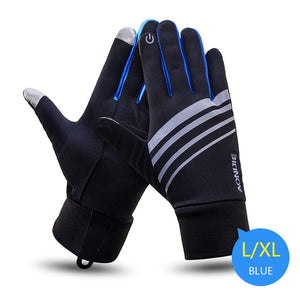 Winter Unisex Sports Touchscreen Windproof Thermal Fleece Bicycle Gloves