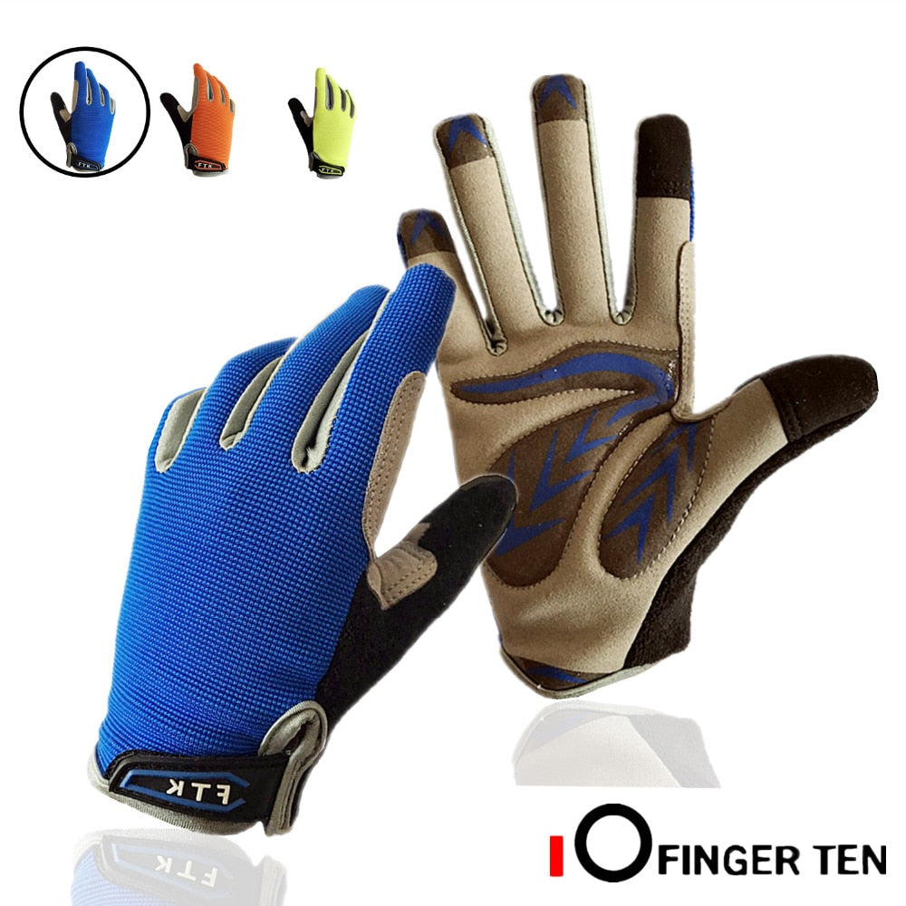 Cycling Gloves Kids Full Finger Pair Boys Girls Bike Bicycle Breathable Touchscreen Gloves