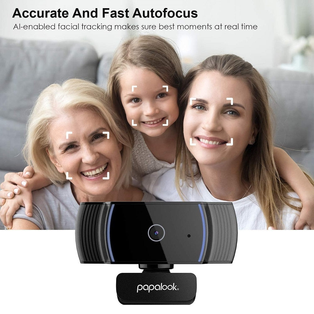 Full HD Autofocus Webcam With Noise Reduction Mic for Video Conference